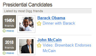 digg candidates Digg Cleans Up Navigation, Candidates, and Adds Olympics picture