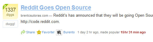 reddit digg Reddit Goes Open Source picture