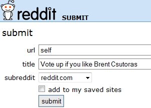reddit self submit1 Reddit Kills Karma in Self Submissions picture