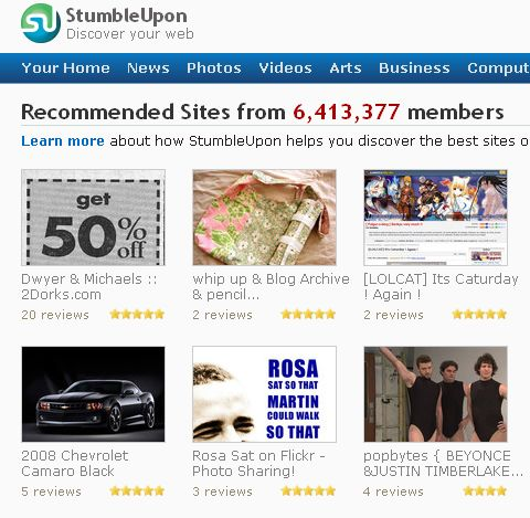 su fp StumbleUpon Readies for Another Version Release picture