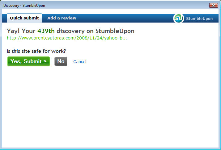 stumble01 StumbleUpon Makes Discovery Easy picture