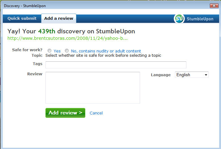 stumble02 StumbleUpon Makes Discovery Easy picture