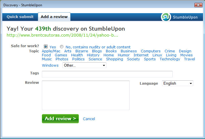 stumble03 StumbleUpon Makes Discovery Easy picture