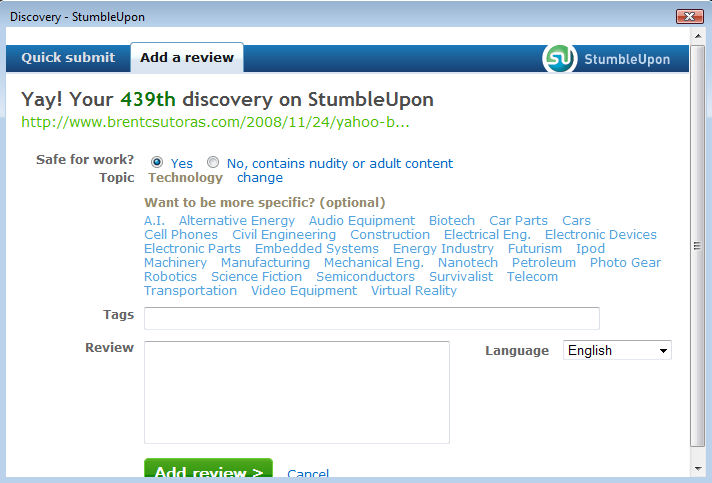 stumble04 StumbleUpon Makes Discovery Easy picture