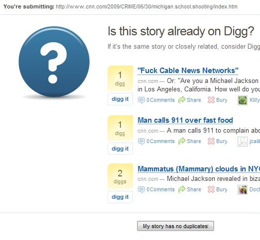 digg dupe wrong Digg Goes to the Source to Avoid Duplicates picture