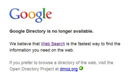 7 20 2011 10 40 22 AM 460x290 Google Kills the Google Directory picture